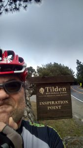 On yesterday's ride, waiting for inspiration to strike.